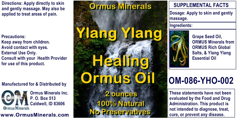 Ormus Minerals Ylang Ylang Healing Ormus Oil for Pain Relief